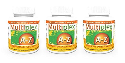 Vita World Pack di 3 Multivitaminico A-Z 3 x 100 Compresse Made in (Vita Biotina)