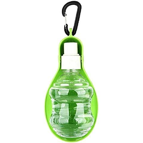 BEETEST 200ml plegable Puppy perro gato bebedero recipiente dispensador de botella de agua para mascotas al aire libre diario caminar Verde