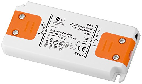 Goobay LED-Transformator; SELV Class II, DC-Betrieb 12 Volt 0 - 6 Watt