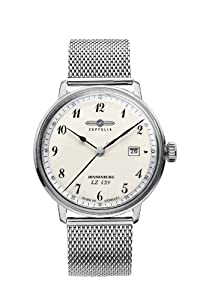 Zeppelin Watches Men's Quartz Watch 7046M-4 7046M-4 with Metal Strap