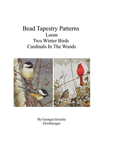 Bead Tapestry Patterns Loom Two Winter Birds Cardinals In The Woods
