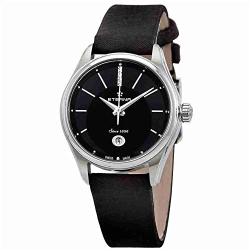 Eterna Women's Avant Garde 28mm Black Leather Band Steel Case Automatic Analog Watch 2940-41-40-1357