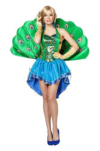 Pfau Erwachsene Kostüme Damen (Wilbers 4827 Pfau Kostüm)
