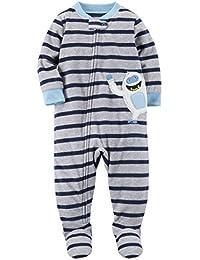 96b01fe41a Carter's Schlafanzug 104/110 Fleece Einteiler Junge Boy warm Weich Winter  Reißverschluss