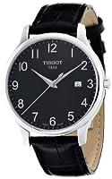 Tissot T0636101605200 - Reloj analógico de caballero de cuarzo con correa de piel negra de Tissot