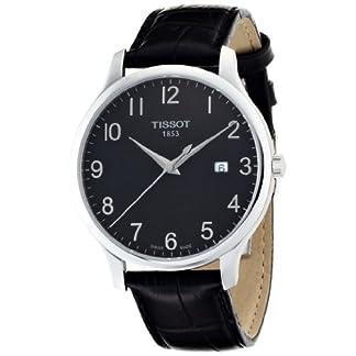 Tissot T0636101605200 – Reloj analógico de caballero de cuarzo con correa de piel negra