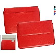 Emartbuy® Asus C100PA Chromebook Flip 10.1 Pulgada Rojo Manga Cubierta Superior PU Cuero Caja Carpeta Caso Folio Encierro Magnético Aleta