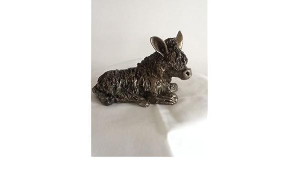 Alpaca Sitting Bronze Figure Frith Sculpture VB011 Veronica Ballan Ornament