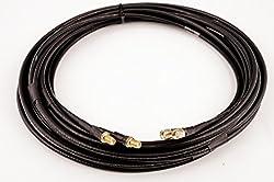 Bidatong Twin Koaxkabel für LTE/WiFi - Belden H155-LSNH - SMA Buchse -> SMA Stecker - Halogenfrei - Flammwidrig (5 Meter)