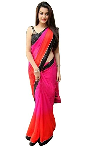 Mahi Fashion Women\'s Georgette Saree (Zeel--219_Multicolor)