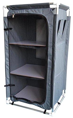 Livitat® Campingschrank Faltschrank Zeltschrank 105 cm hoch Schrank Camping Alu faltbar Grau LV20 (105 cm)