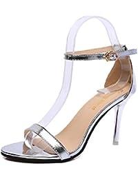 5b69792d3abf YIBLBOX Damen High Heel Sandalen Pumps Damen Riemchensandaletten Schuhe  Party Schuhe