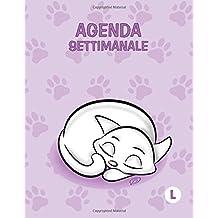 Agenda settimanale - L: Colore Orchidea - Gatti - Perpetua (Senza date) - 18x23 cm
