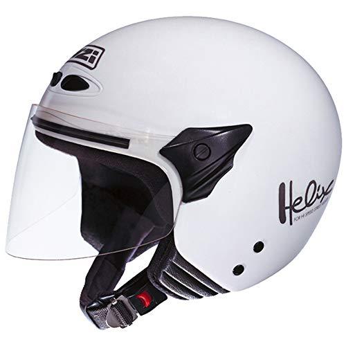 NZI 050137G001 Helix II Jr Motorcycle Helmet, Color White, Size 52-53 (L)