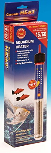 American Paws Pet Products Aquariumwärmer, 75 W, voll tauchbar, Süß- und Salzwasser, mit Thermostat -