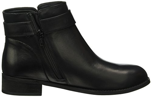 Buffalo London - 413-6923 L Silk Leather, Stivali bassi con imbottitura leggera Donna Nero (Schwarz (BLACK851))