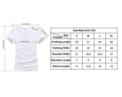 Femmes Couleur unie Courtes T-shirt -Top Décontracté Tee Shirt Bleu Saphir