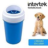 ProductScout Italia Pulisci Zampe Cane Portatile | Lava e Spazzola Le Zampe dei Cani Senza Usare Prodotti nocivi (S, Blu)