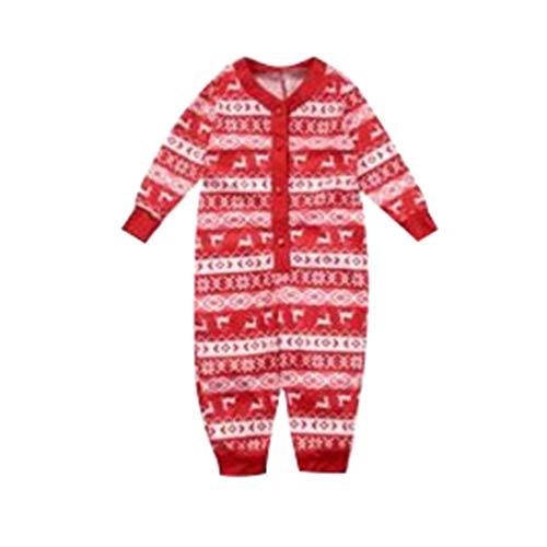 JEELINBORE Weihnachten Schlafanzug Familien Outfit Mutter Vater Kinder Baby Pajama Langarm Nachtwäsche Sleepwear Top Hose Set (Xmas #Baby, 18 Monate)