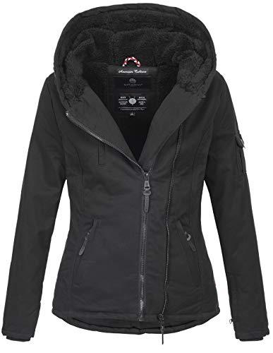 Navahoo Damen Winter Jacke Winterjacke warm gefüttert Baumwolle Teddyfell B632