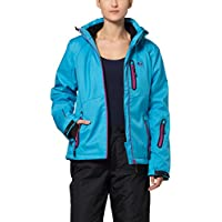 Ultrasport Jacket Serfaus Chaqueta Softshell Alpina-Outdoor, Mujer, Azul/Morado, S