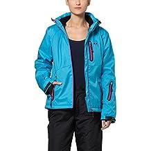 Ultrasport Serfaus - Chaqueta softshell alpina-outdoor de señora con Ultraflow 10.000, color Color vívida azul / morado vino, talla M