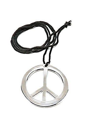 Rubies - Collar símbolo de la Paz, accesorio disfraz de hippie (1596)
