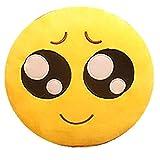 TAOtTAO Expression Pillowcase 32cm weiche Emoji Smile Emoticon gefüllt Plüschtier Puppe Kissenbezug (C1)
