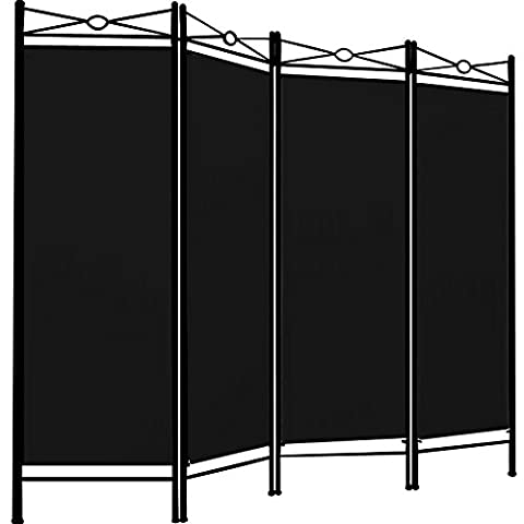 Room Divider Screen Folding Paravent 4 Panel Partition Wall Furniture 180x163cm - Colour Choice