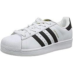 adidas Unisex-Erwachsene Superstar Low-Top, Weiß (Ftwr White/Core Black/Ftwr White), 37 1/3 EU