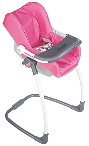Smoby 240227 - Bébé Confort - Chaise Haute 3 en 1 - Chaise Haute Balancelle et Siège Auto