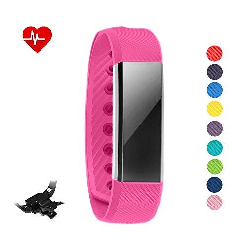 Pulsera inteligente y reloj Sleepa con control del sueño para iPhone y Android. Reloj podómetro que registra la actividad física y la frecuencia cardíaca, de STAY Active, hot pink