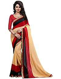 Veronica Closet Women's Cotton Silk Saree With Blouse Piece (Bsbsbbindaniviva345 (1) ,Multicolor Free Size)