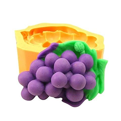 Silicone Mould for Craft Use Representative The Large A Cast Of A Cluster Of Grapes On A Leaf.