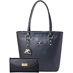 Speed X Fashion Women's Handbag With Clutch Combo R00MTY-0ST Black