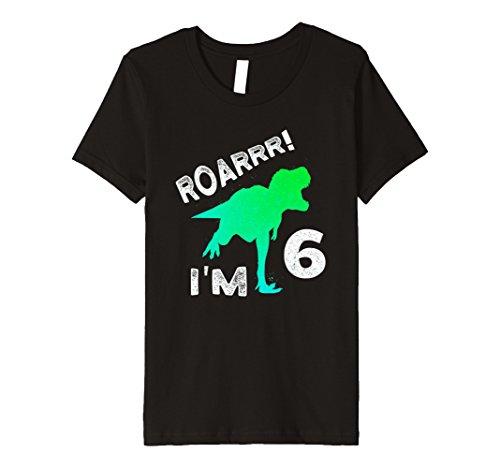 Kinder Dino T-Rex 6. Geburtstag Junge SHIRT Dinosaurier Geschenk