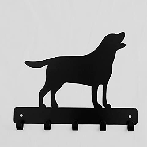 Decorative Labrador silhouette hook in black. 5 hooks suitable for