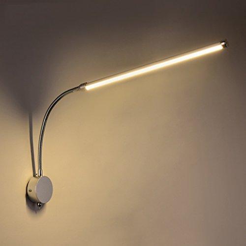 Applique Murale Chambre LED Lampe Murale Moderne Lampe De Lecture Chambre Lit Lampe Lampe Tuyau Lampe en Alliage D'aluminium 9 W Réglable Bande De Lumière Interrupteur Mur Lampe