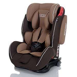 LCP Kids Autokindersitz Saturn iFix Isofix CremeBrown 9-36 kg Gruppe 1 2 und 3 - SPS Seitenaufprall Schutzsystem - 4-fach verstellbare Kopfstütze und Liegepositon - braun