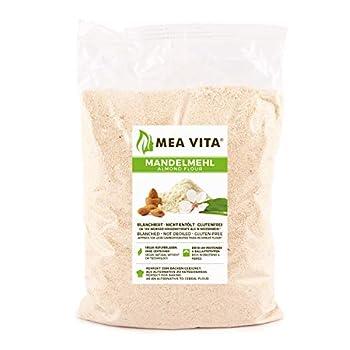 MeaVita farine d'amande, naturelle, blanchie, 1 emballage (1 x 1000g) dans un sac