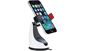 OsoMount 360 Grip Dashboard Windscreen Universal in Car Mount Holder for iPhone 6 (4.7)/6 Plus/5S/5C/4/4S, Samsung Galaxy S5/S4/S3, Galaxy Note 4/3, HTC One/X+ & Other Smartphones - White