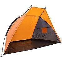 Milestone Camping - Tienda refugio para playa, jardín, pesca, incluye piquetas, color Azul
