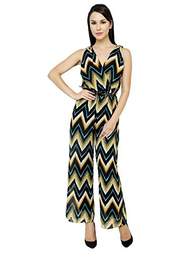 Renka Printed Crepe Jumpsuits for Women