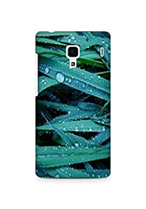 Amez designer printed 3d premium high quality back case cover for Xiaomi Redmi 1S (water drops leaves nature)
