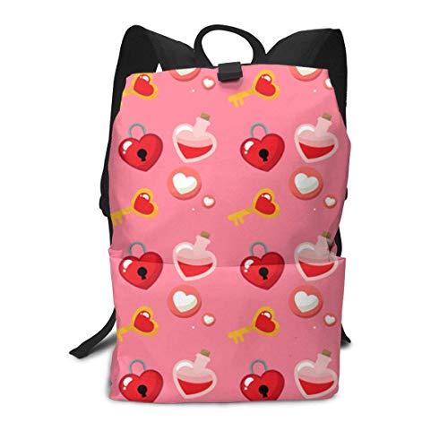 Valentines Backpack Middle für Kinder Jugendliche Schulreisetasche