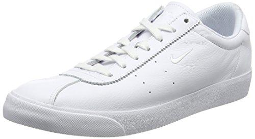 Nike Herren Match Classic Leather Sneaker, Weiß (White/White), 43 EU