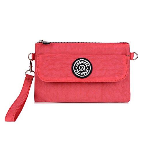 Outreo Handtasche Damen Schultertasche Mode Umhängetasche Wasserdicht Taschen Leichter Reisetasche Kleine Messenger Bag Rot 1