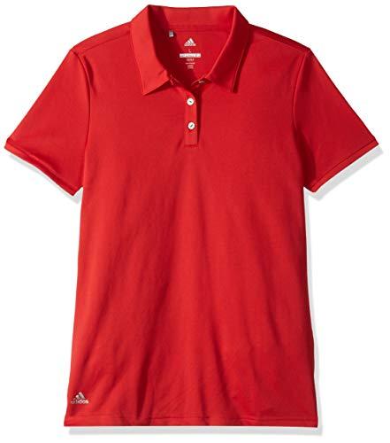 adidas Golf Performance Short Sleeve Polo, Unisex, Collegiate Red, S (Taylormade Golf-gürtel)