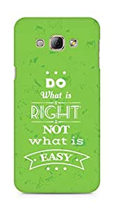 Amez Do what is Right Not what is Easy Back Cover For Samsung Galaxy A8