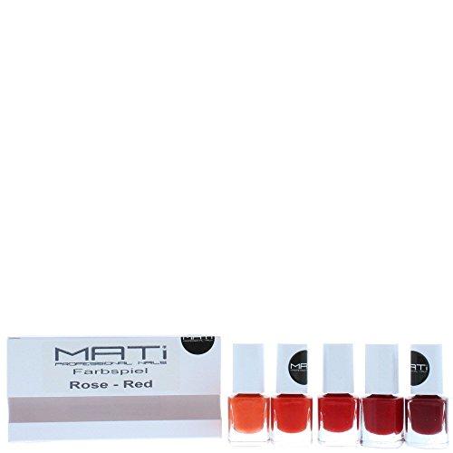 Mati Professional Nagellack Geschenk-Set, 5x 5ml, Rot/Rose